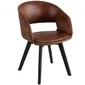 Krzesło tapicerowane Wilbur nowoczesne brązowe