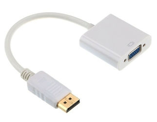 Gembird Adapter DisplayPort do VGA biały
