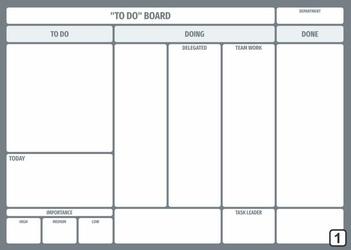 tablica suchościeralna lean To do board 105