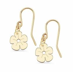 kolczyki złoto 585 kwiatuszki