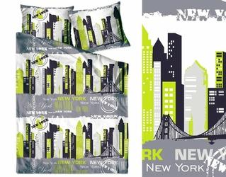 NEW YORK LIMONKA pościel bawełniana Bielbaw