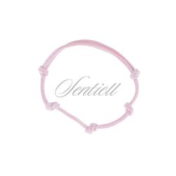 Bransoletka baza do zawieszki kolor różowy - Różowy woskowany połysk