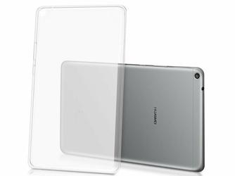 Etui silikonowe mleczno- przezroczyste do Huawei MediaPad T3 8.0 + Szkło