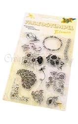Stemple silikonowe - kwiaty - KWIA