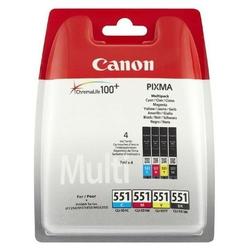 Canon CLI-551 multipack CMYK + PP-201 fotopapier 50x, foto papier, połysk, biały, 10x15cm, 4x6, 50 szt., 6508B005, niewymie