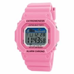 Zegarek damski SKMEI 6918 LED STOPER pink - PINK