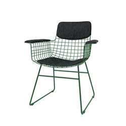 HK Living :: Zestaw czarnych podkładek do krzesła Wire - czarny