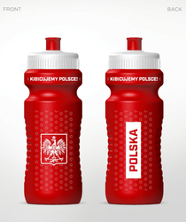 Bidon Treningowy POLSKA BID-011 - Biały || Czerwony