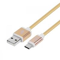 TB Kabel USB-USB C 1.5m zloty sznurek