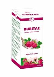RUBITAL syrop 125ml - malinowy