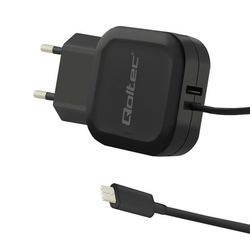 Qoltec Ładowarka sieciowa 17W | 5V | 3.4A | USB + USB typ C