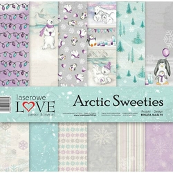 Papier do scrapbookingu 30,5x30,5cm Arctic Sweeties- ZESTAW