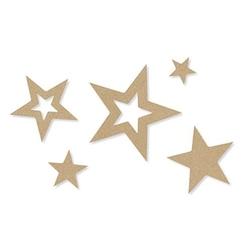 Ozdobne gwiazdki z filcu 30 szt. - beżowy - BEŻO
