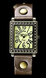 Zegarek damski TAYMA - RETRO PUNK 31 - brąz zx560e