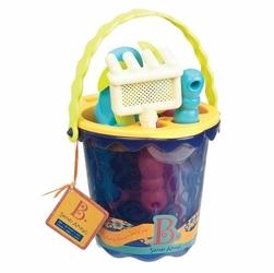 Wiaderko z akcesoriami do piasku, granatowe, B.toys