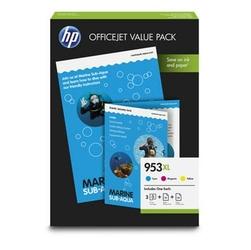 HP oryginalny zestaw tuszy 1CC21AE, No.953XL, cyanmagentayellow, 1600s, 75szt, HP OfficeJet Pro 8740,8730,8725-8710,8210,8218,