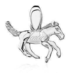 Srebrna zawieszka pr.925 koń  konik