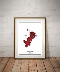 Crimson Cities - Moscow - plakat Wymiar do wyboru: 60x80 cm