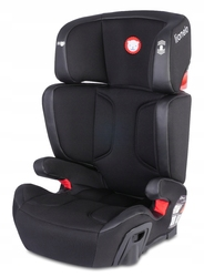 Lionelo HUGO LEATHER Czarny Fotelik 15-36 kg ISOFIX + LAMPKA LED