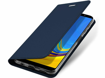 Etui Dux Ducis skin Samsung Galaxy A7 2018 A750F Granatowe +Szkło Alogy - Granatowy