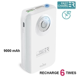 PURO External Fast Power Bank 9000 mAh white