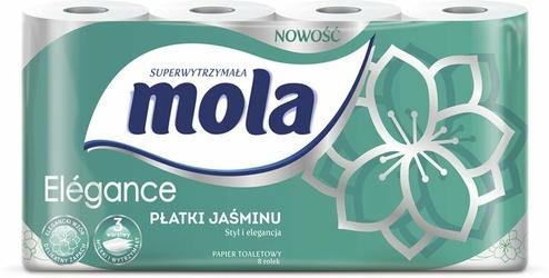 Mola Elegance Płatki Jaśminu, zapachowy papier toaletowy, 3 warstwy, 8 rolek