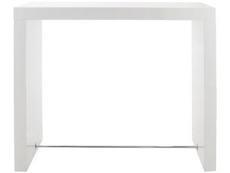Stół barowy Bloter 130x60 biały wysoki połysk
