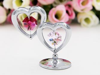 Serce podwójne Kryształy Swarovski