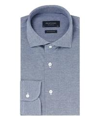 Elegancka niebieska koszula męska z dzianiny SLIM FIT 40
