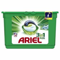 Ariel, Active Gel, Mountain Spring, kapsułki do prania tkanin, 14 sztuk