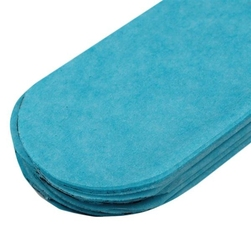 Papierowy pompon 15 cm - niebieski - NIE
