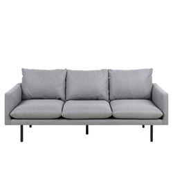Sofa trzyosobowa do salonu Calone jasnoszara
