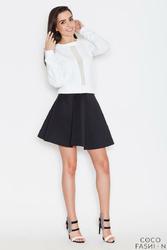 Czarna Delikatnie Plisowana Mini Spódnica