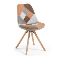 Krzesło Gemini pomarańczowe - bez podłokietników || 2 || tapicerowane