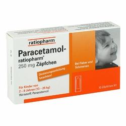 Ratiopharm Paracetamol 250 mg w czopkach