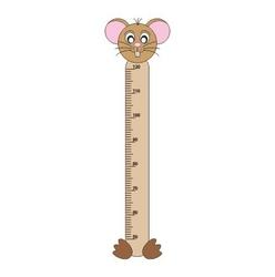 naklejka miarka wzrostu myszka 16