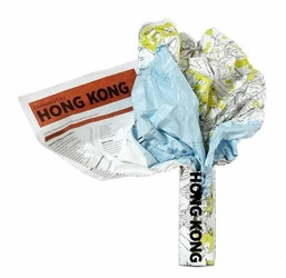 Mapa Crumpled City Hong Kong