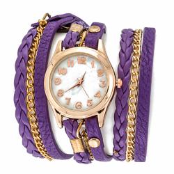 Zegarek plaited II violet - VIOLET