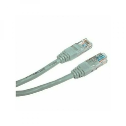 UTP patchcord UTP patchcord, Cat.5e, RJ45 M-1m, nieekranowany, krzyżowy, szary, economy, do połączenia 2 PC