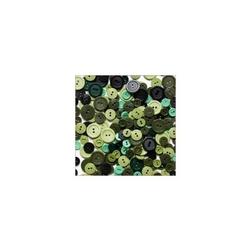 Kolorowe guziki 3 wielkości200szt. - khaki - KHA