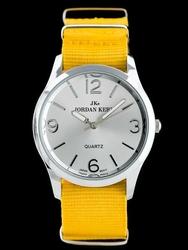 Żółty Damski zegarek na pasku JORDAN KERR - B6944 zj738a -antyalergiczny