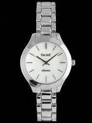 Srebrny zegarek damski bransoleta PACIFIC A752 zy556a