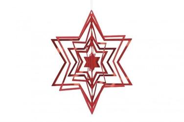 Ozdoba choinkowa 3D gwiazda czerwona