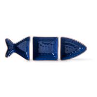 Zestaw 3 miseczek do serwowania Rybka niebieska Seafood Sagaform