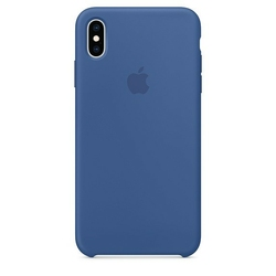 Apple Etui silikonowe iPhone XS Max - delftyjski błękit