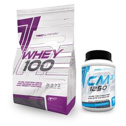 TREC WHEY 100 2000 + CM3 - 360caps - Vanilla