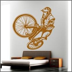 Naklejka welurowa rower, bmx bk10