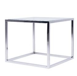 Stolik Cromo szklany srebrny kwadratowy