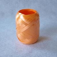 Wstążka plastikowa KOKON 5mm20m - pomarańczowa - POM