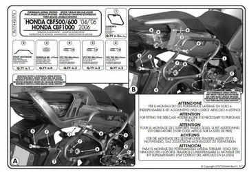 Kappa KLX174 stelaż boczny v35 do CBF 5006001000